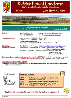 Keleier La Forest-Landerneau, juillet-août 2014