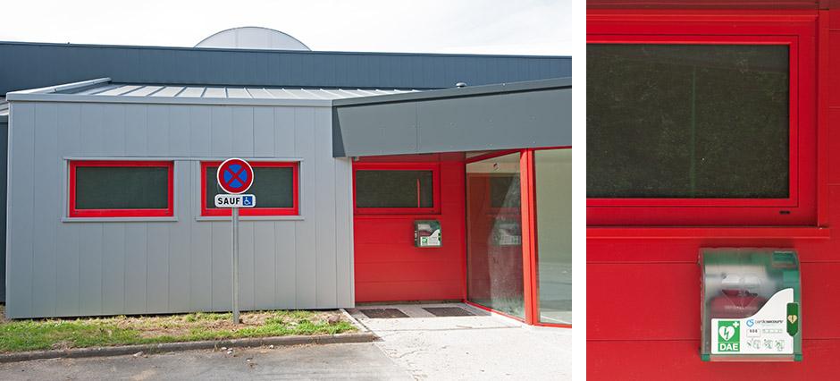 La Forest-Landerneau - Défibrillateur : Extérieur salle de sport