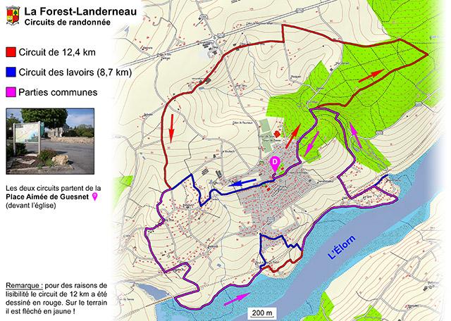 Circuits de randonnée - La Forest-Landerneau
