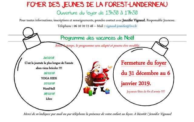 Programme Foyer Noël 2018