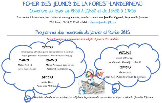 Programme Foyer Janvier-Février 2019