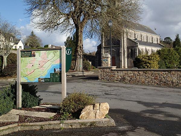 Panneau Balades & Randonnées, La Forest-Landerneau
