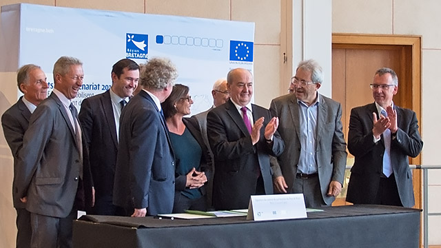24 avril 2015 : signature du contrat de partenariat du Pays de Brest