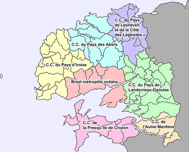 Carte du Pays de Brest