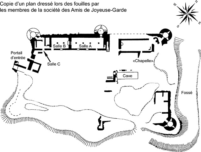 Plan du château de Joyeuse-Garde