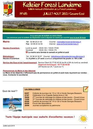 Keleier La Forest-Landerneau, juillet-août 2015