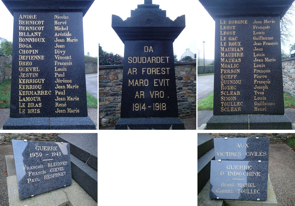 La Forest-Landerneau - Monument aux Morts