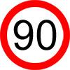 90 km/h