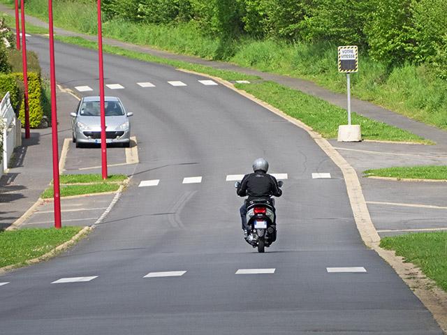 Contrôle de vitesse route de Landerneau