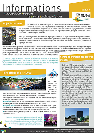 CCPLD Info - Juillet 2016