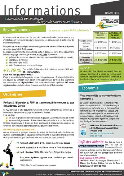 CCPLD Info - Octobre 2016 : Le verre / PLUi