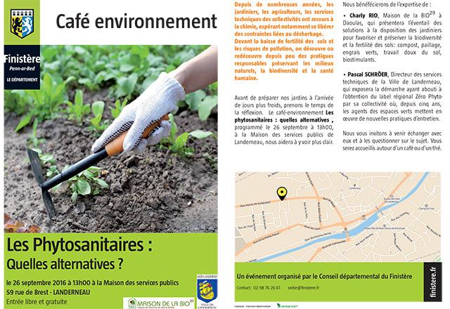 26 septembre 2016 : Programme Café environnement